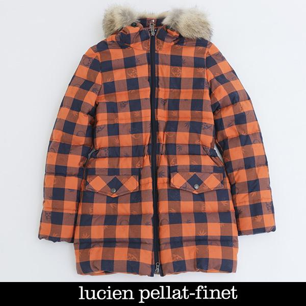 Lucien Pellat-finet(ルシアンペラフィネ)レディースダウンコートレディースダウンブルゾンオレンジ×ネイビーYMP375F(323 81103)
