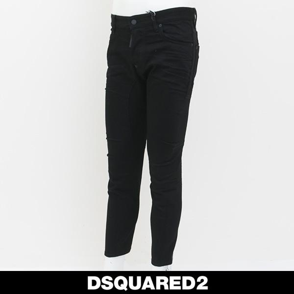 DSQUARED2(ディースクエアード)ダメージジーンズブラックTIDY BIKER JEANS74LB0221