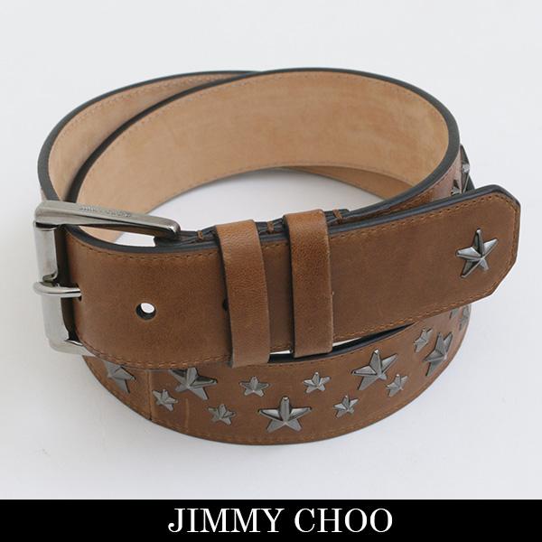 JIMMY CHOO(ジミーチュウ)レザーベルトブラウンARCHER BLS 153