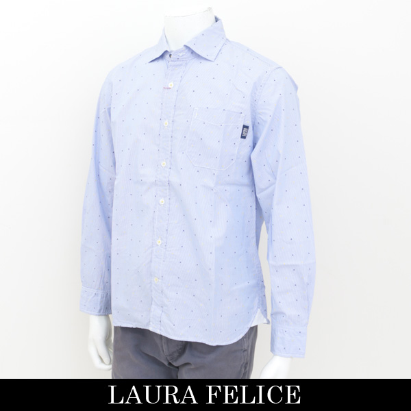 LauraFelice(ラウラ・フェリーチェ)長袖シャツサックス系130 3104 24