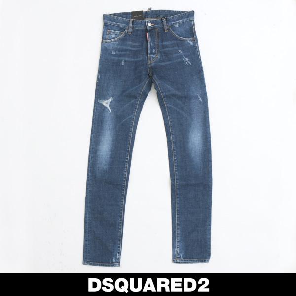 DSQUARED2(ディースクエアード)ダメージ加工ジーンズCOOL GUY JEANS74LB0044