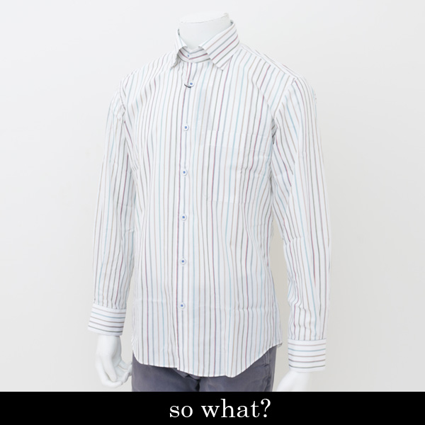 so what?(ソーファット)長袖カジュアルシャツマルチカラー00 77128 99
