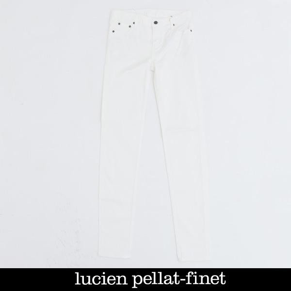 lucien pellat-finet(ルシアンペラフィネ)レディースデニムパンツホワイトYMP465F(323 41503)