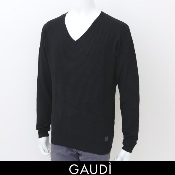 GAUDI(ガウディ)Vネックセーターブラック1772032