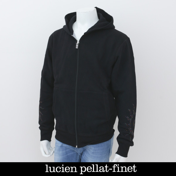 Lucien Pellat-finet(ルシアンペラフィネ)ジップアップパーカーブラックEVH1978
