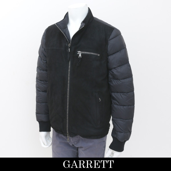 GARRET(ギャレット)ウール×レザーダウンジャンバーレザー×ダウンジャンバーブラックMP175009