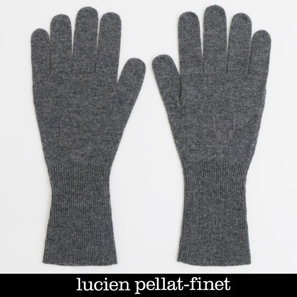 lucien pellat-finet(ルシアンペラフィネ)手袋 ニットグローブチャコールグレーUE11A