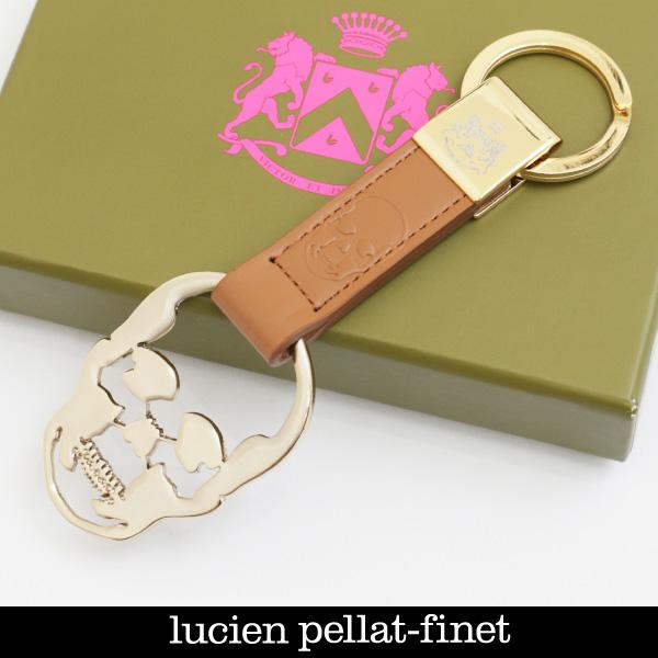 Lucien Pellat-finet(ルシアンペラフィネ)キーホルダーキャメルYAM30