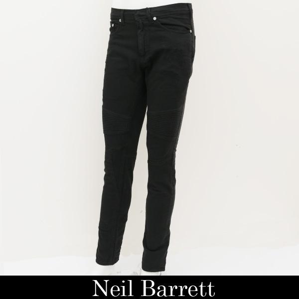 NeilBarrett(ニールバレット)ライダースデニムパンツブラックBDE144