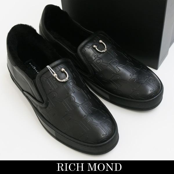John Richmond(ジョン・リッチモンド)スリッポンブラック3127/MA