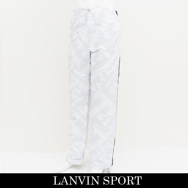 LANVIN SPORT(ランバン スポール)ナイロンパンツホワイト×グレーVMI808153 N94