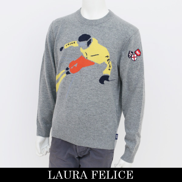 LauraFelice(ラウラ・フェリーチェ)セーターグレー131 7009 14