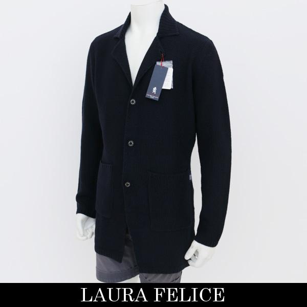 LauraFelice(ラウラフェリーチェ)ロングカーディガンネイビー131 7016 27