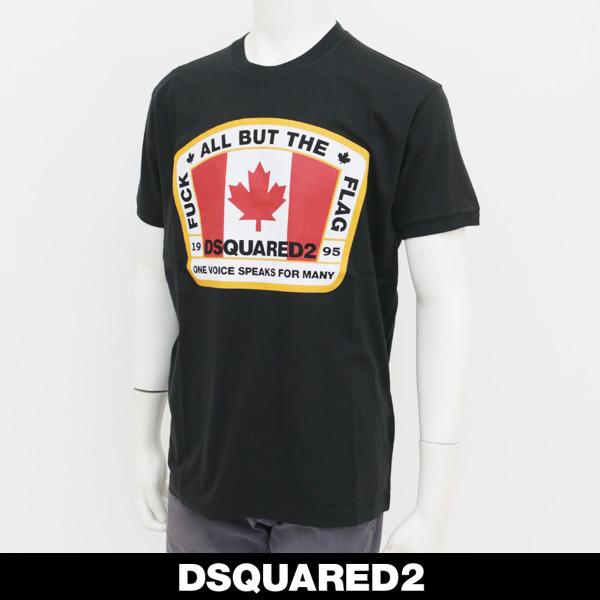 Dsquared(ディースクエアード)ロゴプリント半袖TシャツブラックS74GD0379