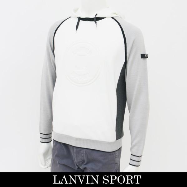 LANVIN SPORT(ランバン スポール)パーカーホワイト×グレーVMI555141E N91