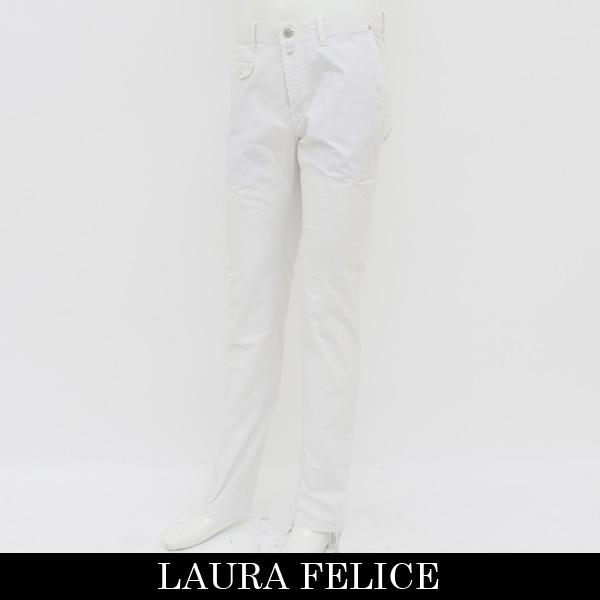 LauraFelice(ラウラフェリーチェ)ストレッチコットンパンツオフホワイト130 2006 13