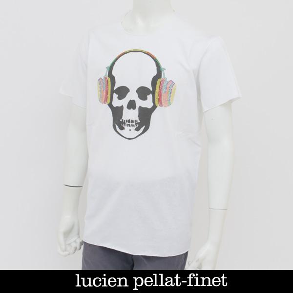 Lucien Pellat-finet(ルシアンペラフィネ)スカル半袖TシャツホワイトEVU2006(293-54409)