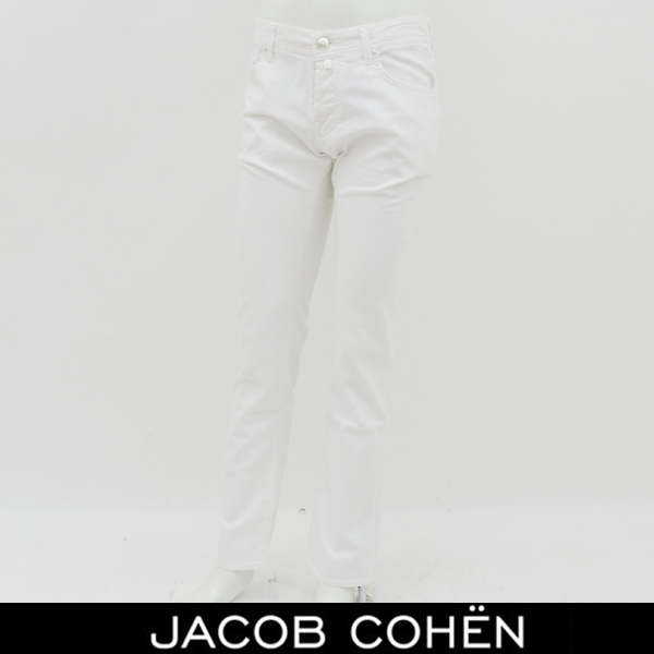JACOB COHEN(ヤコブコーエン)ストレッチコットンパンツホワイトPW622 COMF 00028BR 52346