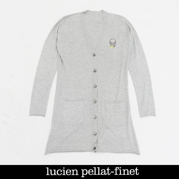 Lucien Pellat-finet(ルシアンペラフィネ)レディースカーディガングレーRAP111F 55801