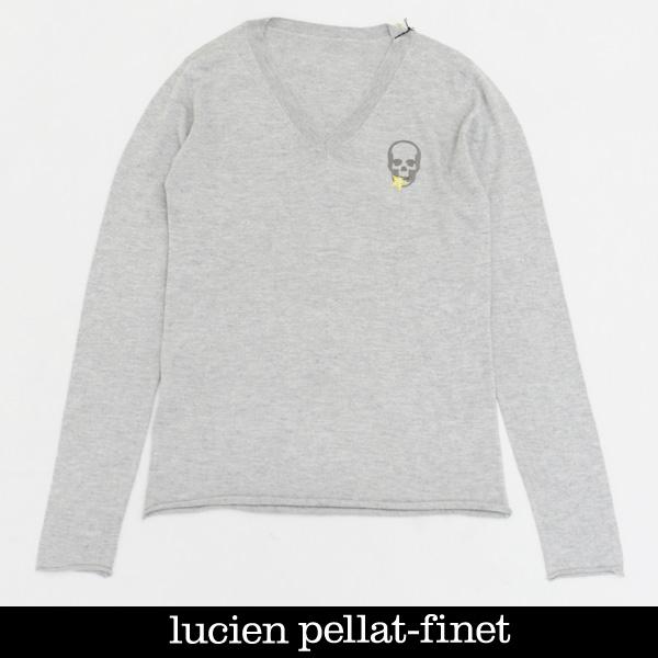 Lucien Pellat-finet(ルシアンペラフィネ)レディースカシミア混セーターグレーRAP109F 55400