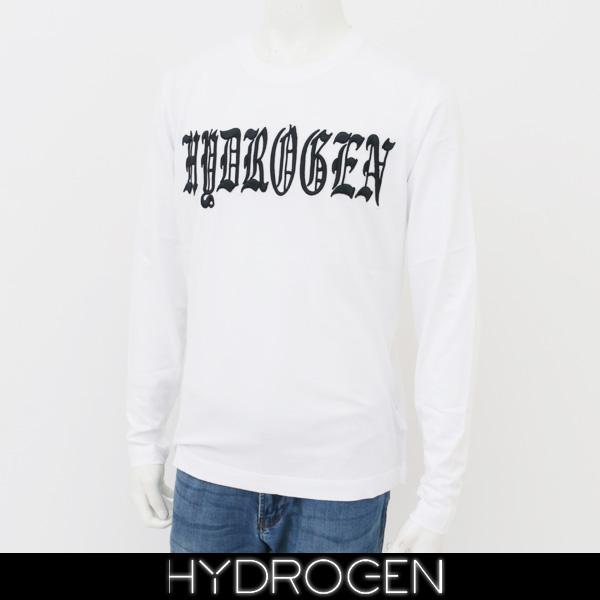 HYDROGEN(ハイドロゲン)メンズ長袖Tシャツ/ロンTロングTシャツホワイト220625