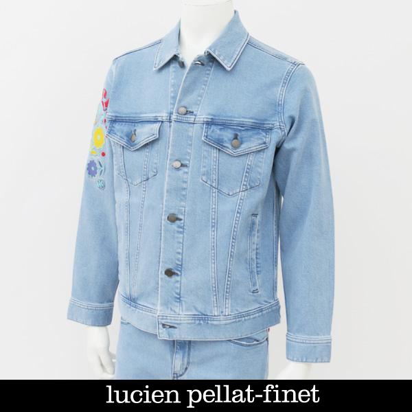 Lucien Pellat-finet ルシアンペラフィネデニムブルゾンジージャンブリーチDE118H 51714