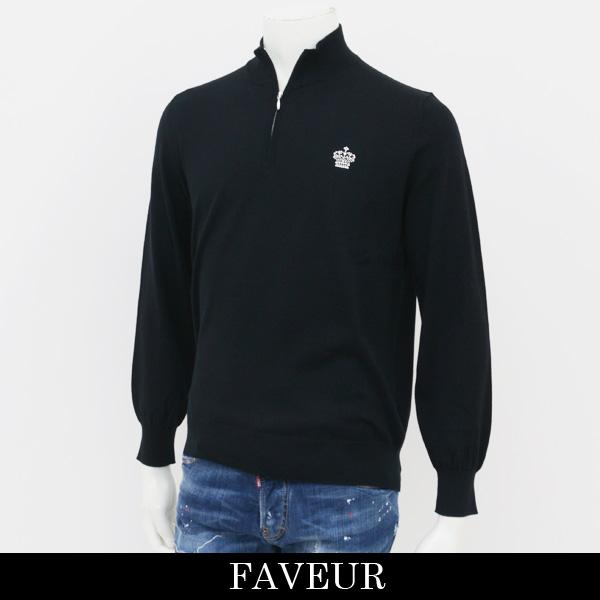 FAVEUR(ファヴール)ジップハイネックセーターブラック6181 1121