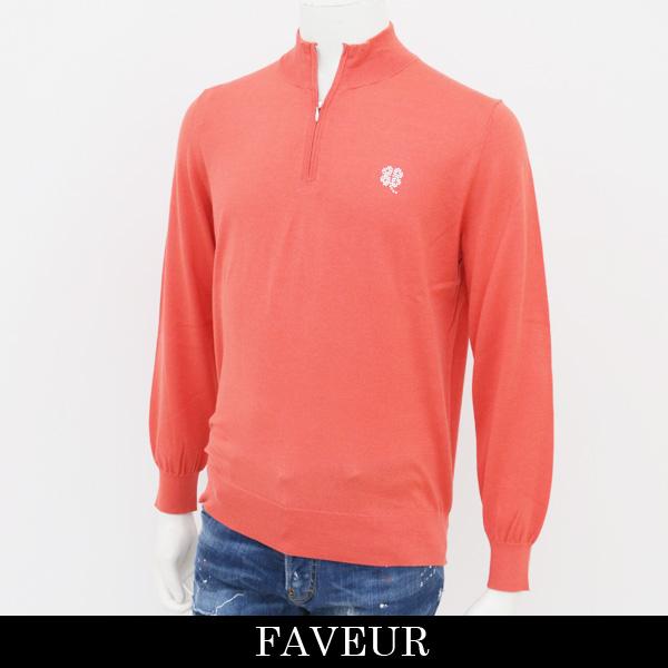 FAVEUR(ファヴール)ジップハイネックセーターオレンジ6181 1121