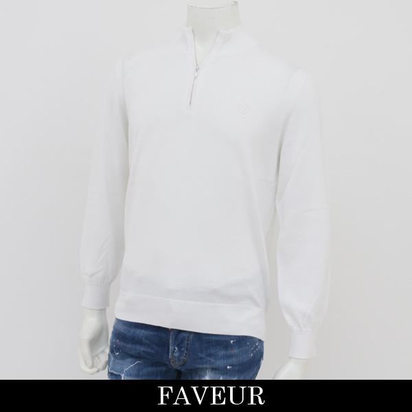 FAVEUR(ファヴール)ジップハイネックセーターホワイト6181 1121