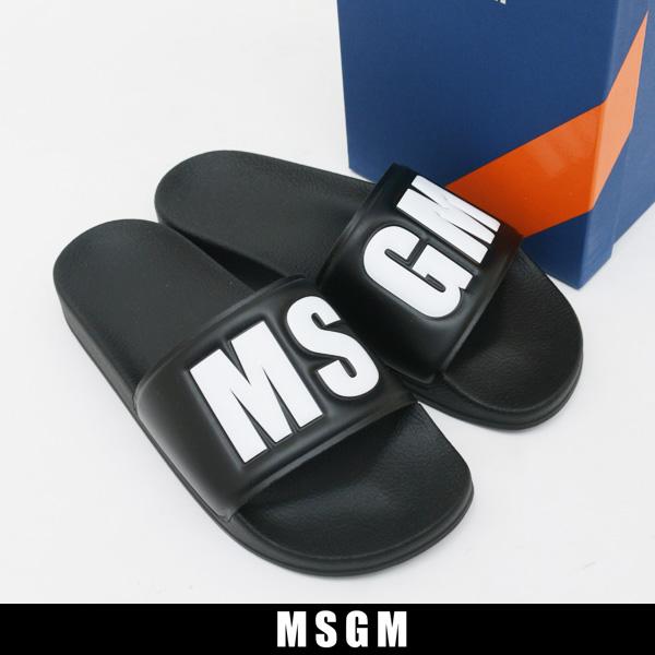 MSGM(エムエスジーエム)サンダルブラック2240MS100