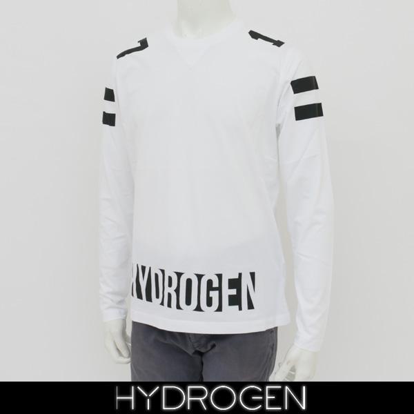 HYDROGEN(ハイドロゲン)メンズ長袖Tシャツ/ロンTロングTシャツホワイト220609