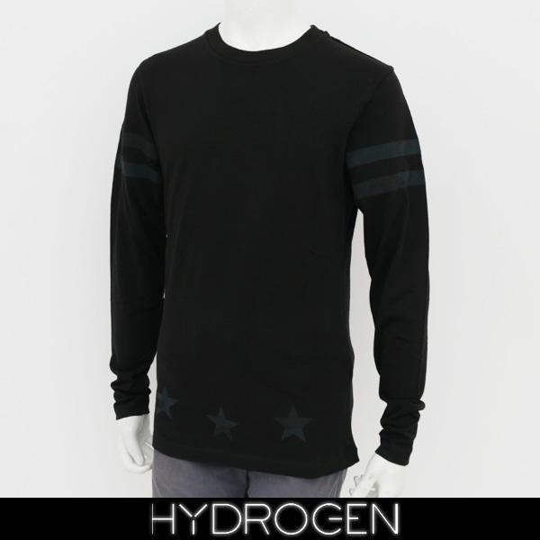 HYDROGEN(ハイドロゲン)メンズ長袖Tシャツ/ロンTロングTシャツブラック220011