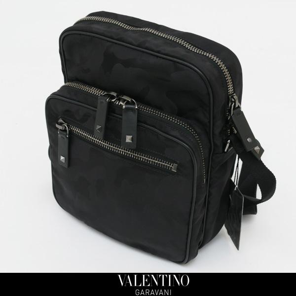 VALENTINO GARAVANI(ヴァレンティノ ガラヴァーニ)ショルダーバックブラック(カモフラ柄)NY0B0586NA1