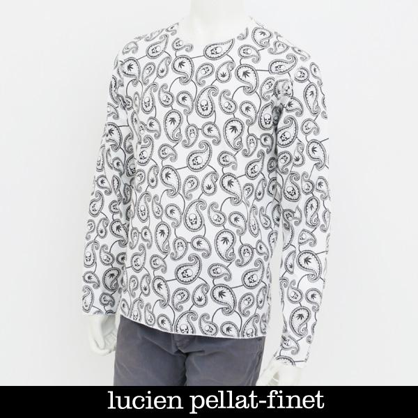 Lucien Pellat-finet ルシアンペラフィネ スカルロングTシャツホワイトEVH1876