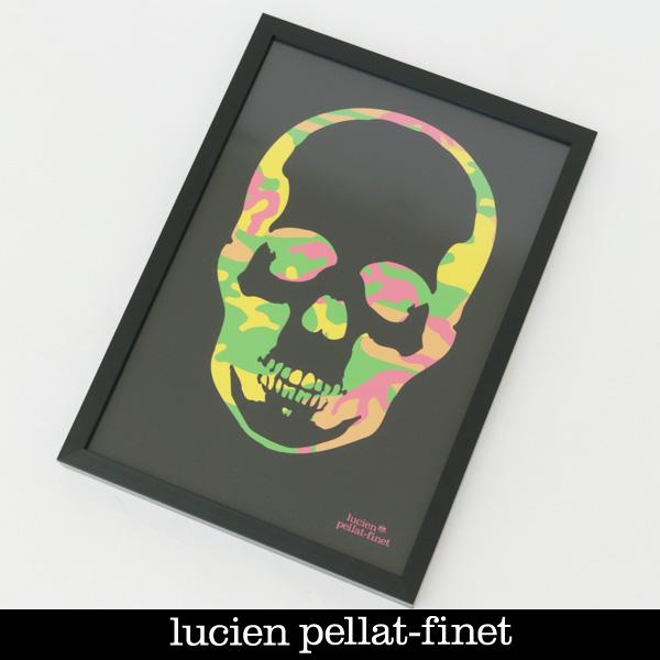 Lucien Pellat-finet(ルシアンペラフィネ)SKULL POSTERブラック×マルチカラー(カモフラ柄)19801