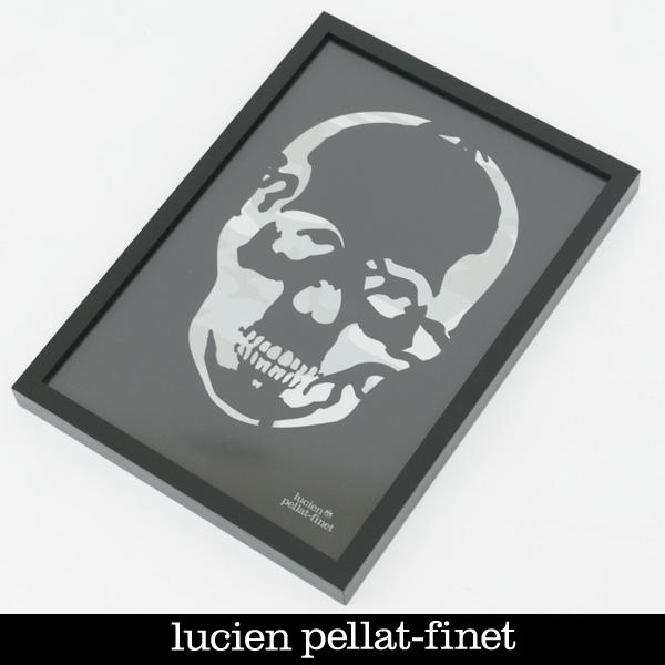 Lucien Pellat-finet(ルシアンペラフィネ)SKULL POSTERブラック×グレー(カモフラ柄)19801