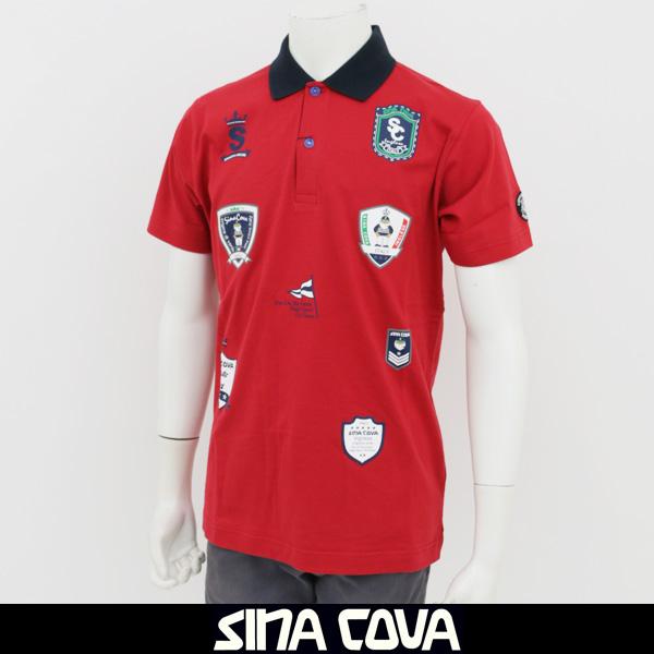 SINA COVA(シナコバ)半袖ポロシャツレッド18150570 670