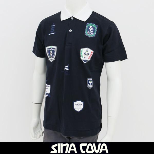 SINA COVA(シナコバ)半袖ポロシャツネイビー18150570 290
