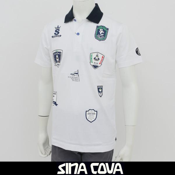SINA COVA(シナコバ)半袖ポロシャツホワイト18150570 100