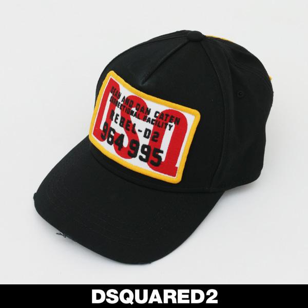 SQUARED 2(ディースクエアード)キャップブラックBCM0026 05C00001 2124