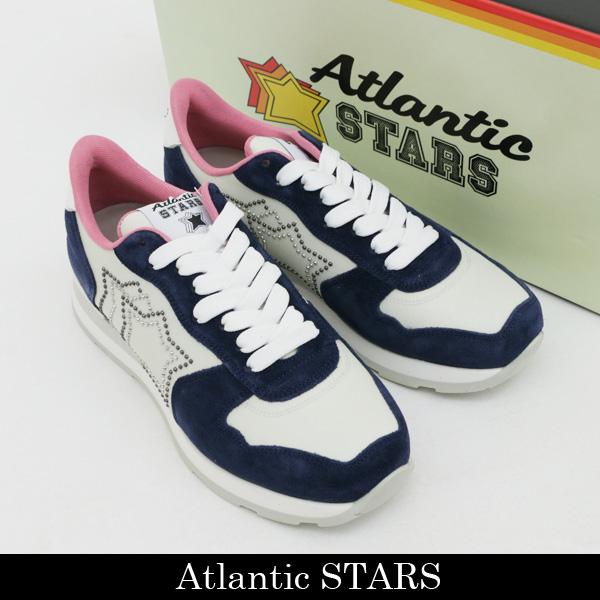 Atlantic STARS(アトランティックスターズ)レディース スニーカーオフホワイト×ネイビーVEGA GM 86B GHIACCIO N3502