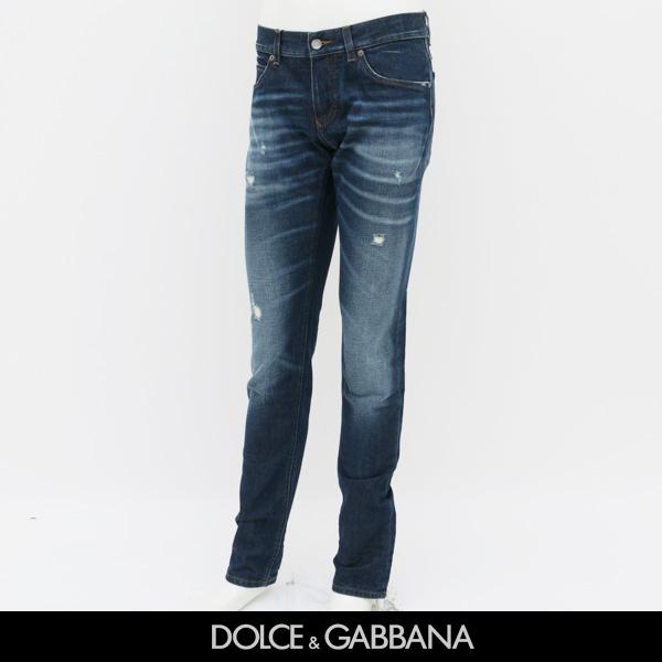 Dolce&Gabbana(ドルチェ&ガッバーナ)『14GOLD』クラッシュ加工ウォッシュデニムG6LBLD G8S23