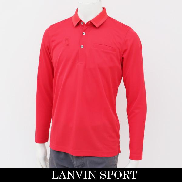 LANVIN SPORT(ランバン スポール)長袖ポロシャツレッドVMJ1061J3 R03