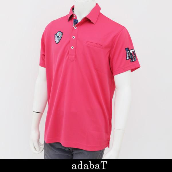 adabat(アダバット)半袖ポロシャツピンク803 14631 073