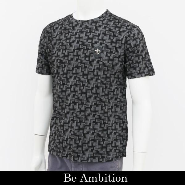 Be Ambition(ビーアンビション)半袖Tシャツブラック×グレーT28102 B