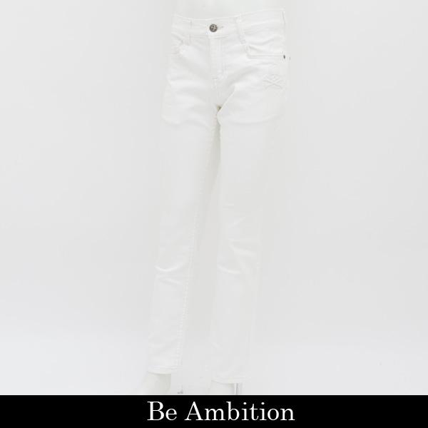 Be Ambition(ビーアンビション)デニムパンツ (ホワイト)D28102 W