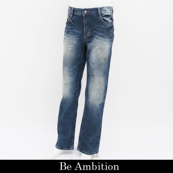 Be Ambition(ビーアンビション)デニムパンツ (ネイビー系)D28101