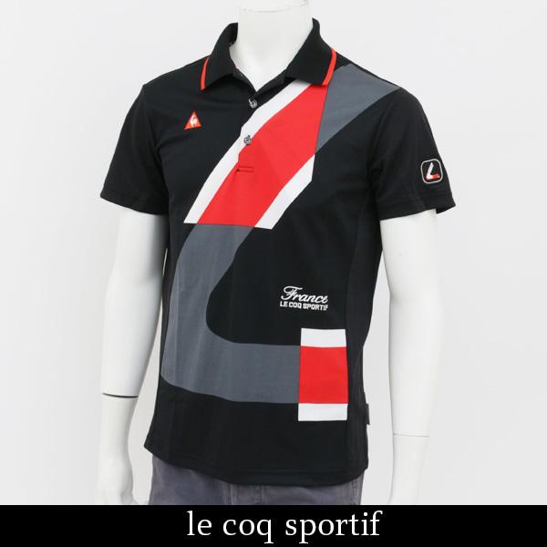 le coq GOLF(ルコックゴルフ)半袖ポロシャツブラックQGMLJA13 BK00