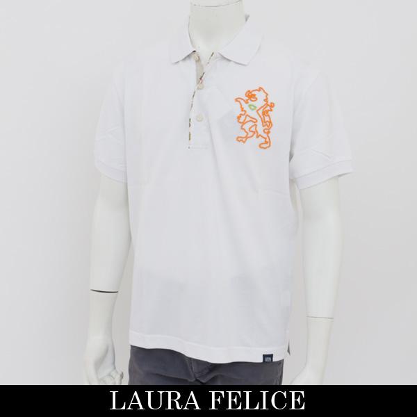 LauraFelice(ラウラ・フェリーチェ)半袖ポロシャツホワイト122 4508 N1