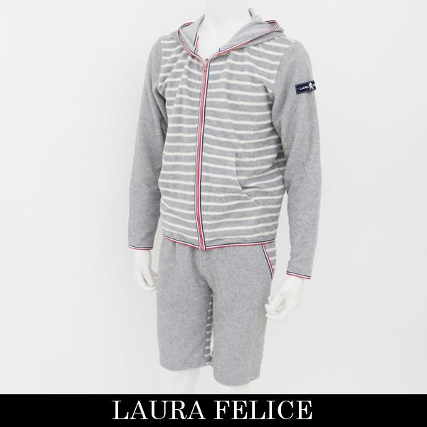 LauraFelice(ラウラ・フェリーチェ)セットアップ (グレー×ホワイト)132 6003 14/132 6052 14